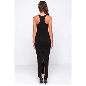 Lulu's Dresses - Black Bodycon Maxi Dress